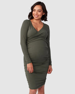 Bailey Crossover L/S Nursing Dress