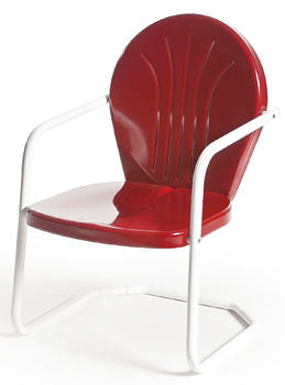 Torrans MFG Bellaire Retro Metal outdoor patio chair