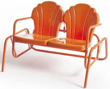 Load image into Gallery viewer, Torrans Parklane Retro Metal Double Patio Glider