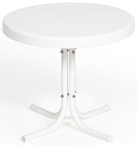 Torrans Parklane Retro Patio Side Table (White Only)