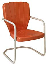Thunderbird Coral Metal Lawn Chair