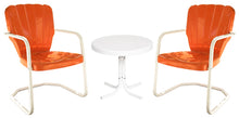 Load image into Gallery viewer, Torrans Thunderbird Retro Metal Chair Set of Two Plus Side Table