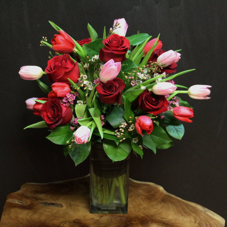 Tulips + Roses