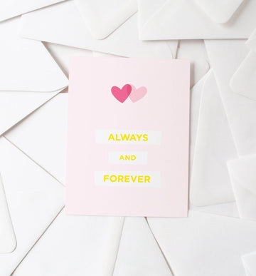 Two Hearts Forever Card