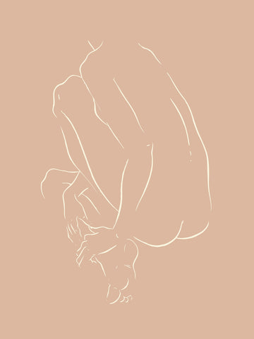 Nude Crouched by Jimmy Thompson | Nude Sketch Series 2 | Poster Child Prints