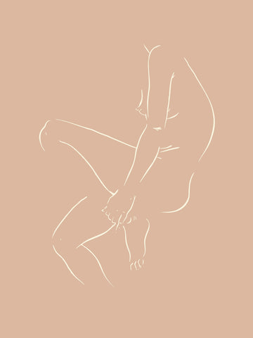 Nude with Bent Knee by Jimmy Thompson | Nude Sketch Series 2 | Poster Child Prints