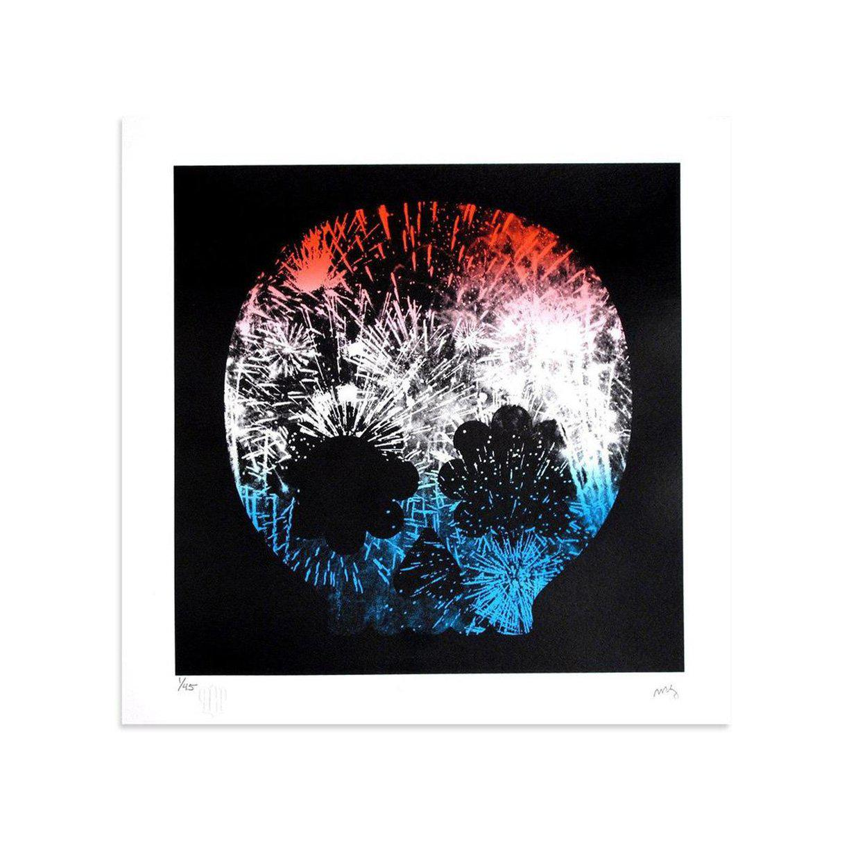 Explosion, Red White & Blue by Matt Goldman | Print | Poster Child Prints