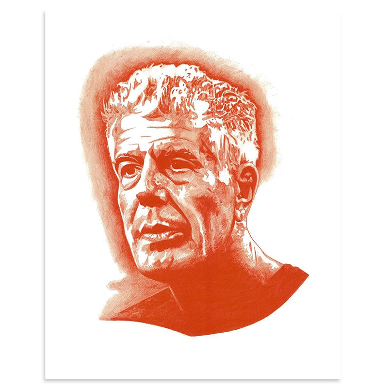 Bourdain by Albert Reyes | Print | Poster Child Prints