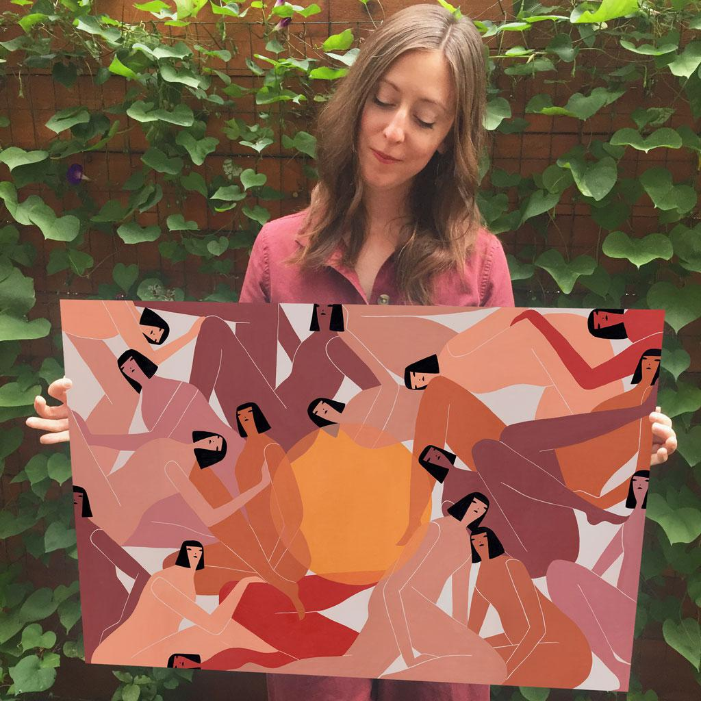 Amber Berger Nude the sun is between us | laura berger | limited edition