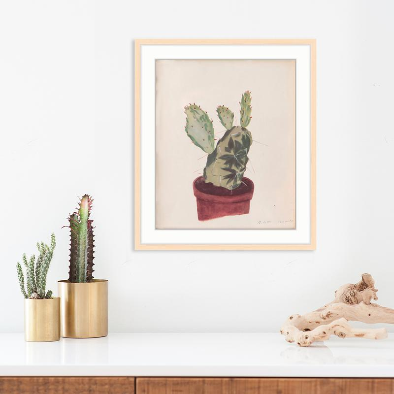 Potted Cactus by Found Art | Found Art | Poster Child Prints