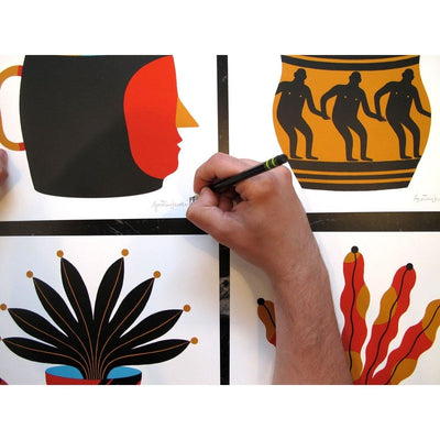 Painted Vase 3, Agostino Iacurci | Poster Child Prints