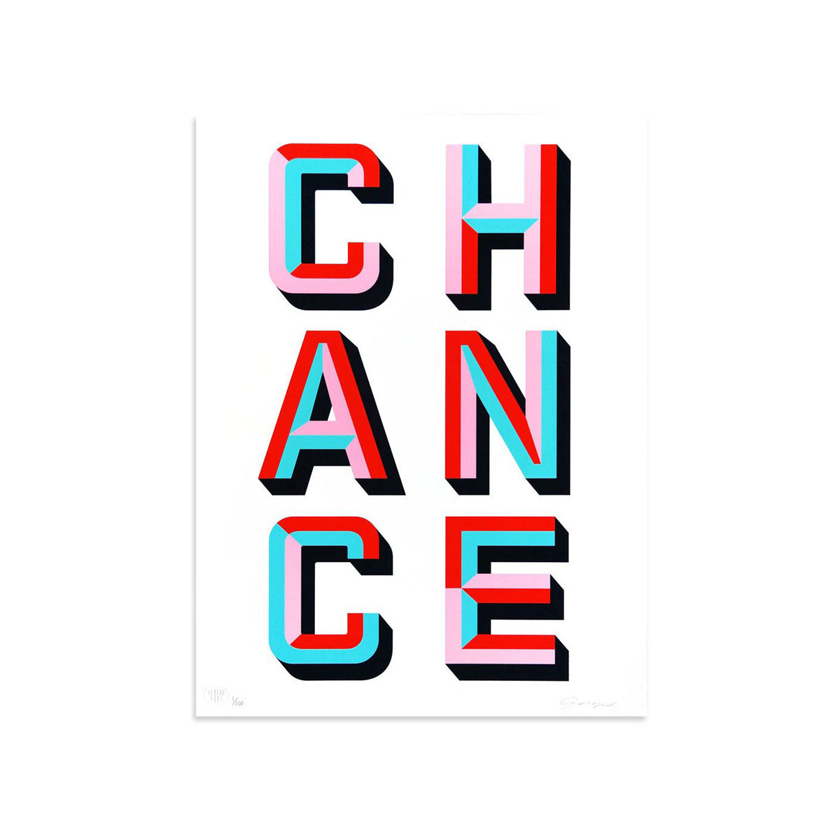 CHANCE by ASVP | Print | Poster Child Prints