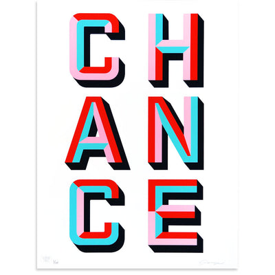 CHANCE is a newPrint by ASVP | Poster Child Prints