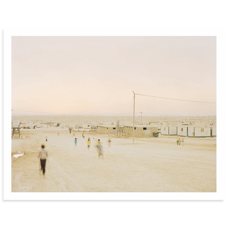 Playing in the Zaatari Refugee Camp 14 x 18