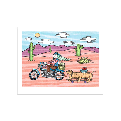 On the Magical Bike Adventure... by Michael C. Hsiung-Print-Poster Child Prints