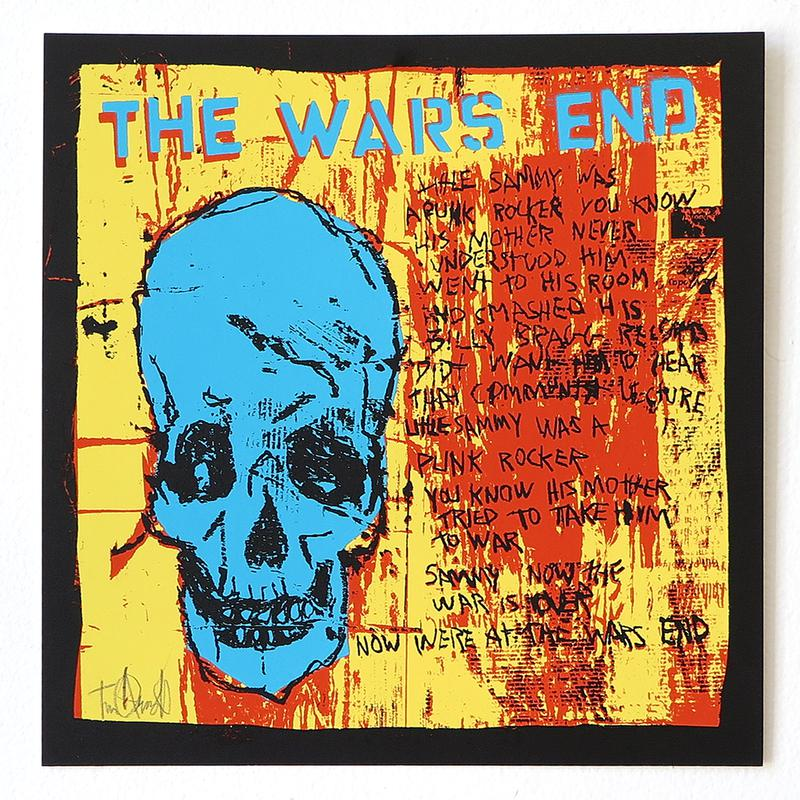 The Wars End - Blue Skull by Tim Armstrong-Archive-Poster Child Prints