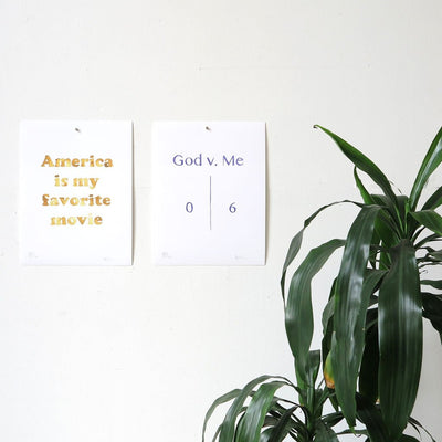 God v. Me by Brad Phillips | Print | Poster Child Prints