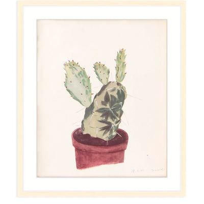 Found Art | Poster Child Prints | Natural Illustration | One-of-a-Kind | Still-life Painting | Cactus Art