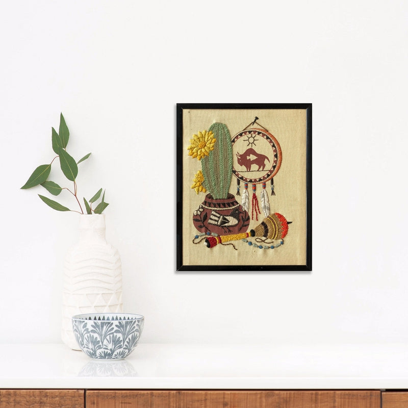 Cactus and Dream Catcher | Found Art | Found Art | Poster Child Prints
