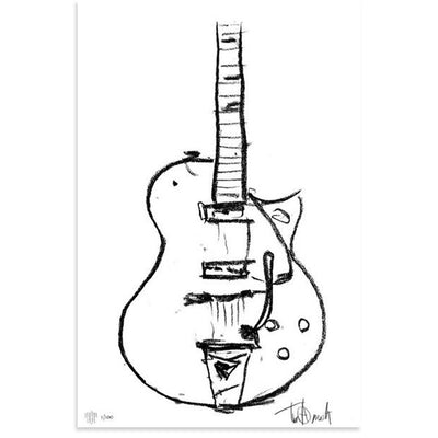 Charcoal Gretsch, Tim Armstrong | Poster Child Prints