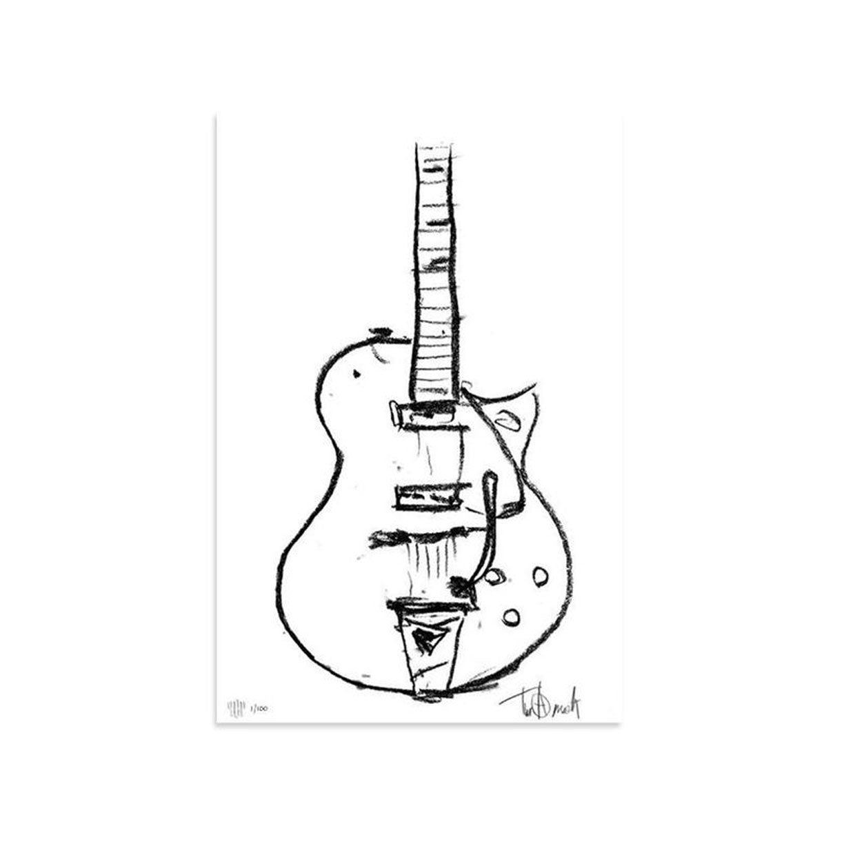 Charcoal Gretsch by Tim Armstrong | Archive | Poster Child Prints