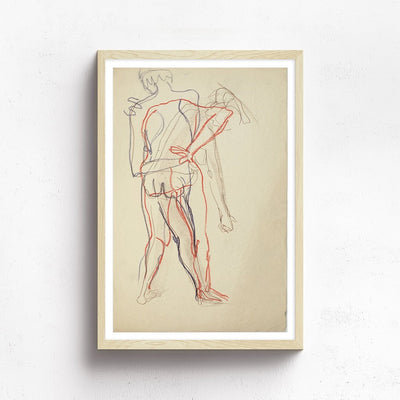 Nudes in Motion by Found Art | Found Art | Poster Child Prints