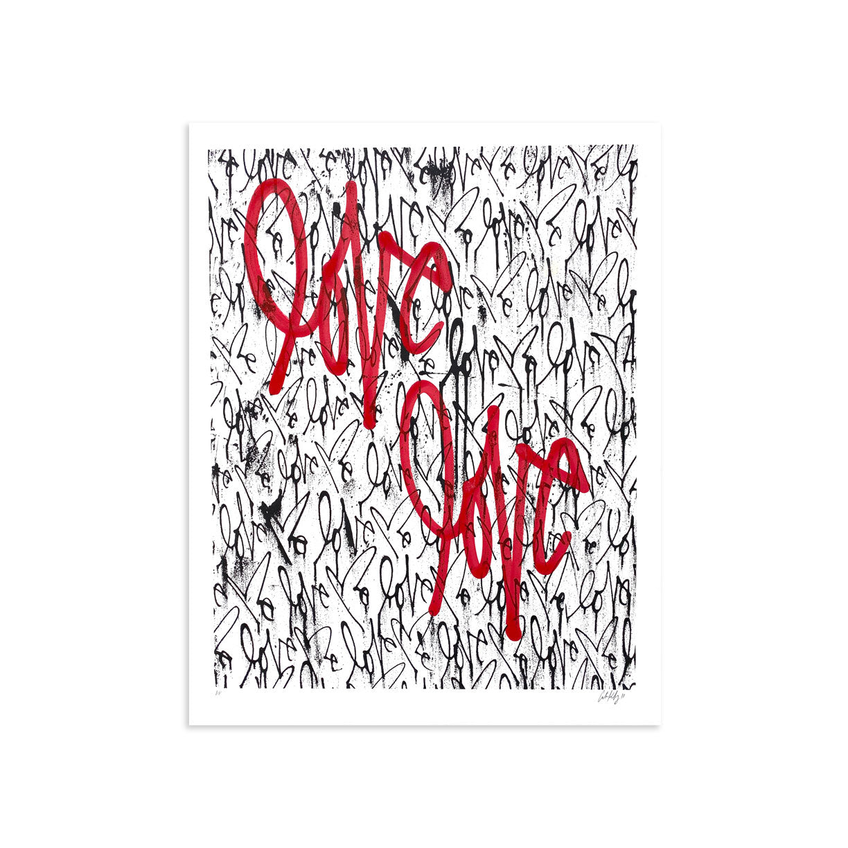 Love Me, Black Friday AE/13 by Curtis Kulig | Artist Edition | Poster Child Prints