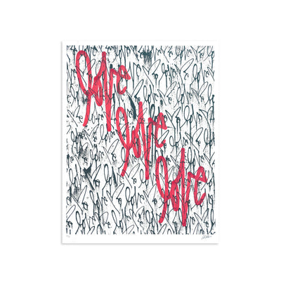 Love Me, Black Friday AE/32 by Curtis Kulig | Artist Edition | Poster Child Prints