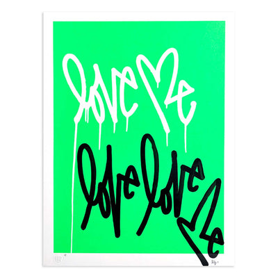 Love Me Fluorescent Gr. AE/4 by Curtis Kulig | Artist Edition | Poster Child Prints