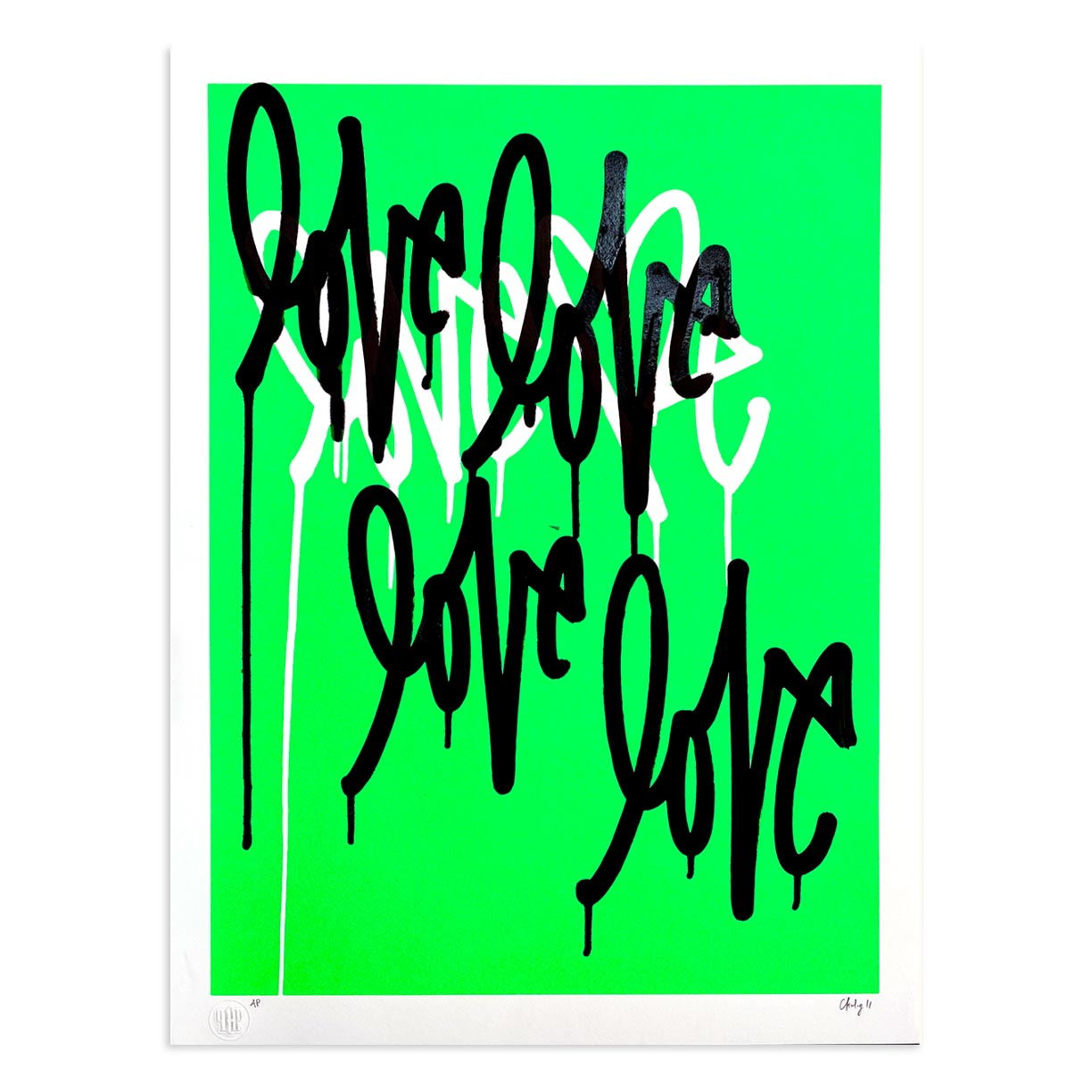 Love Me Fluorescent Gr. AE/5 by Curtis Kulig | Artist Edition | Poster Child Prints