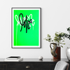 Love Me Fluorescent Gr. AE/6 by Curtis Kulig | Artist Edition | Poster Child Prints