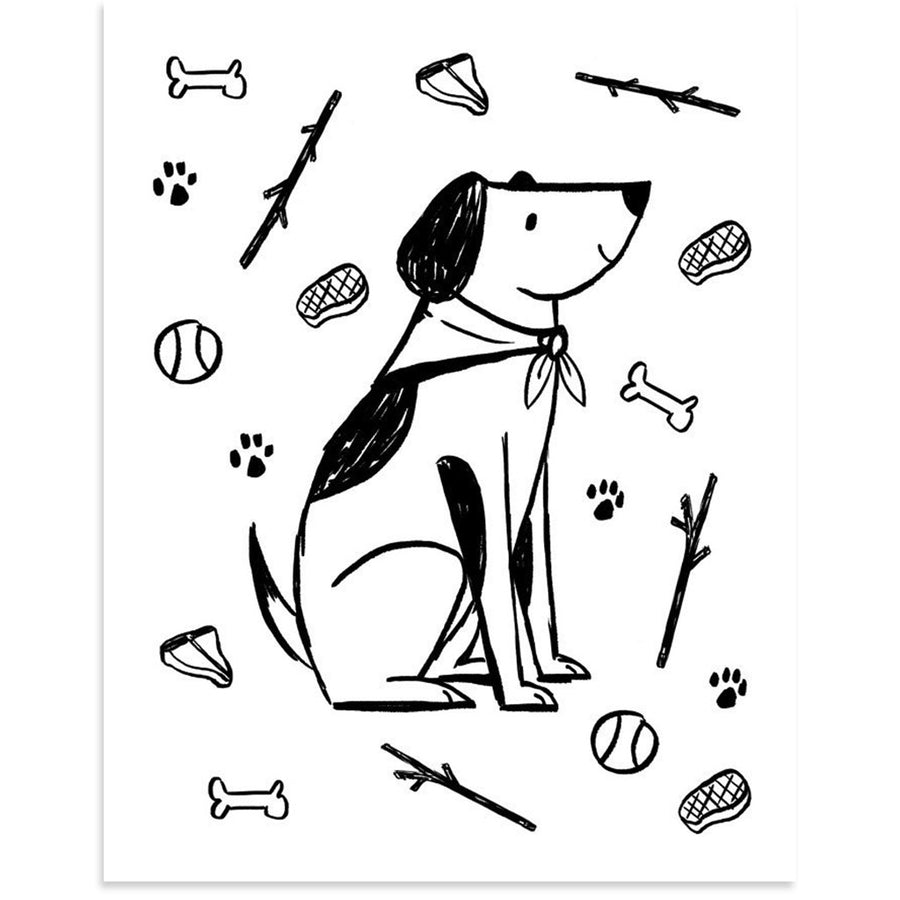 Dog Life by PCP Collection-Print-Poster Child Prints