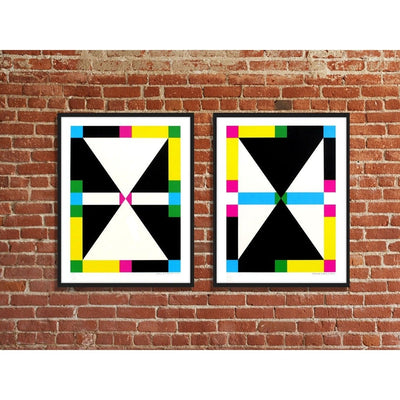 Erin D. Garcia | Poster Child Prints | 4 shapes in 6 colors - Color rotation 1