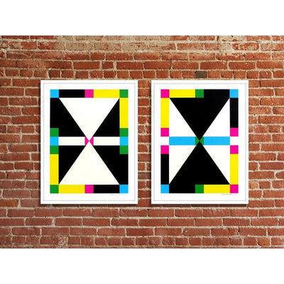 4 Shapes in 6 Colors - Color Rotation 2, Erin D. Garcia | Poster Child Prints