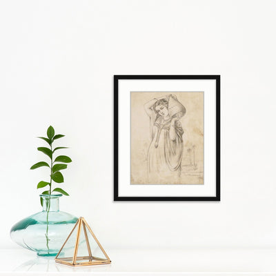 Girl with Water Jug | Poster Child Prints | Found Art | One of a Kind