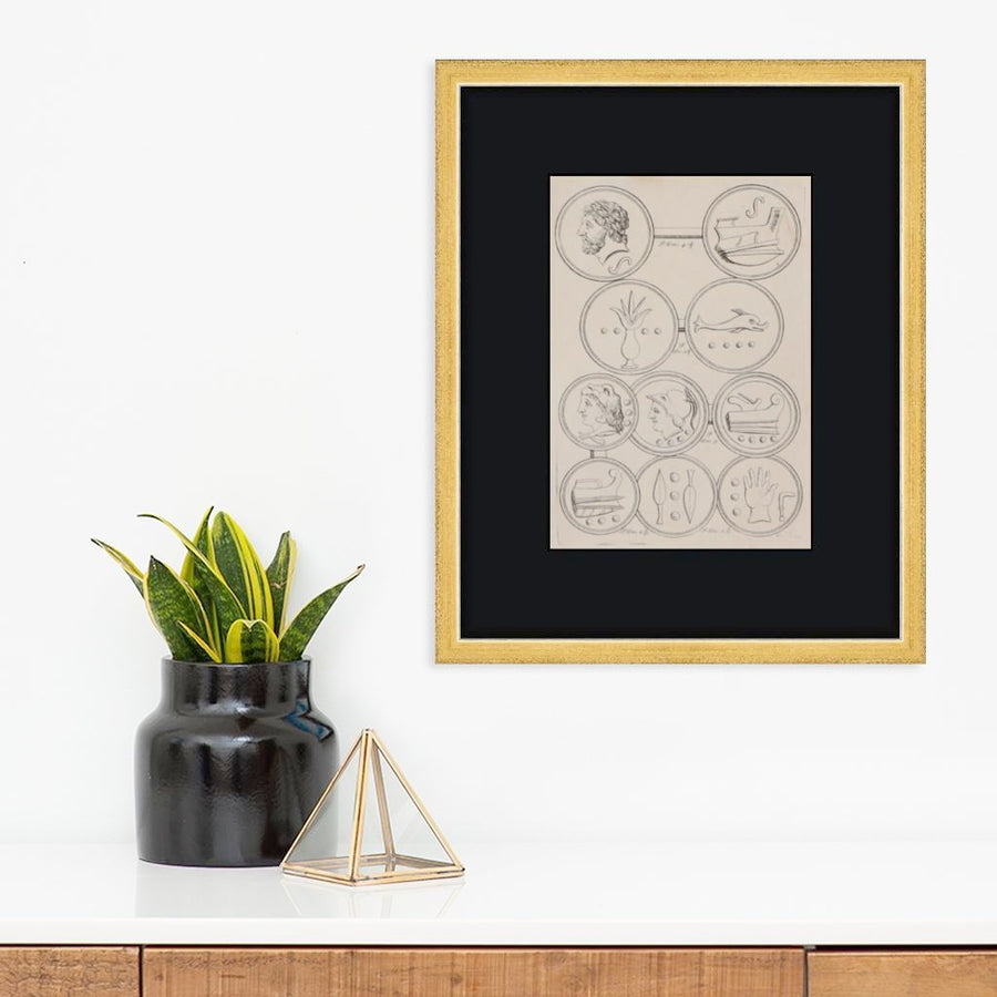Greek Coins | Found Art | Found Art | Poster Child Prints
