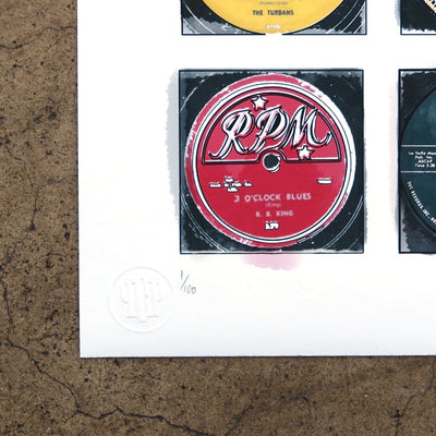 Vintage 45s by Greg Foley | Print | Poster Child Prints