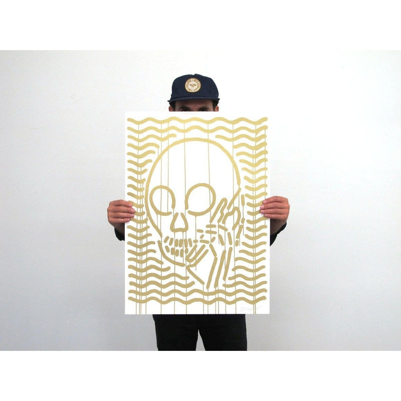 Skullphone | Poster Child Prints | MOP Gold