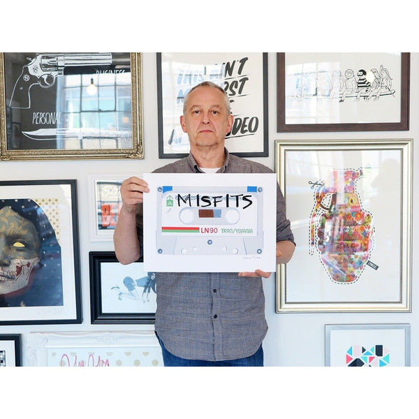 Horace Panter | Poster Child Prints | Misfits | Casette Series | Ltd. Ed. Artwork