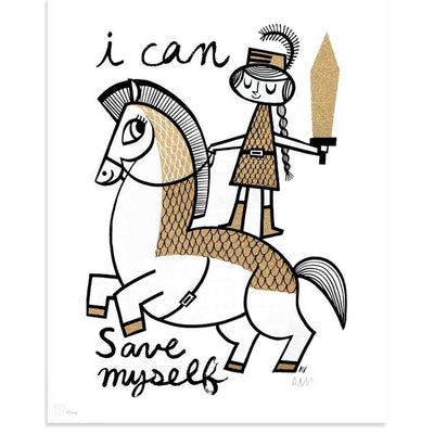 I Can Save Myself, Amanda Visell | Poster Child Prints