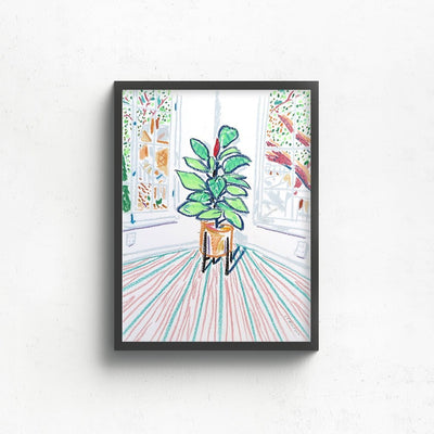 New Plant in the Corner | Original Artwork by Jimmy Thompson | Poster Child Prints