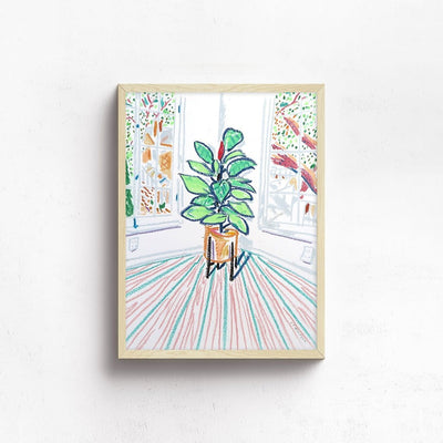 New Plant in the Corner by Jimmy Thompson | Original Artwork | Poster Child Prints