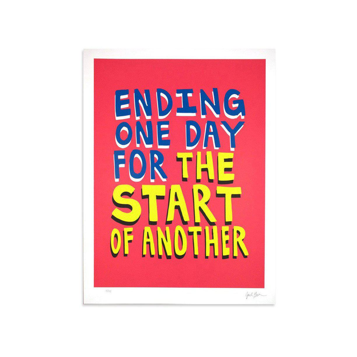 Ending One Day For the Start Of Another by Jack Greer | Print | Poster Child Prints