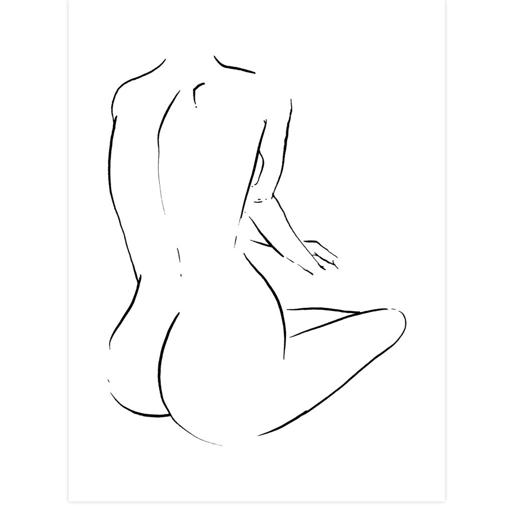 Nude Seated by Jimmy Thompson | Print | Poster Child Prints