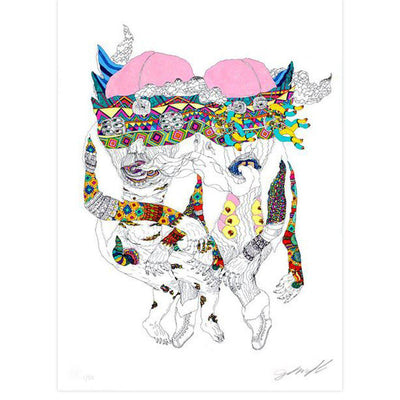 Untitled (Two Heads) by John Gourley | Archive | Poster Child Prints