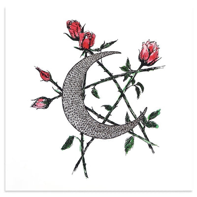 Moon and Star is a newPrint by Kim Krans (The Wild Unknown) | Poster Child Prints