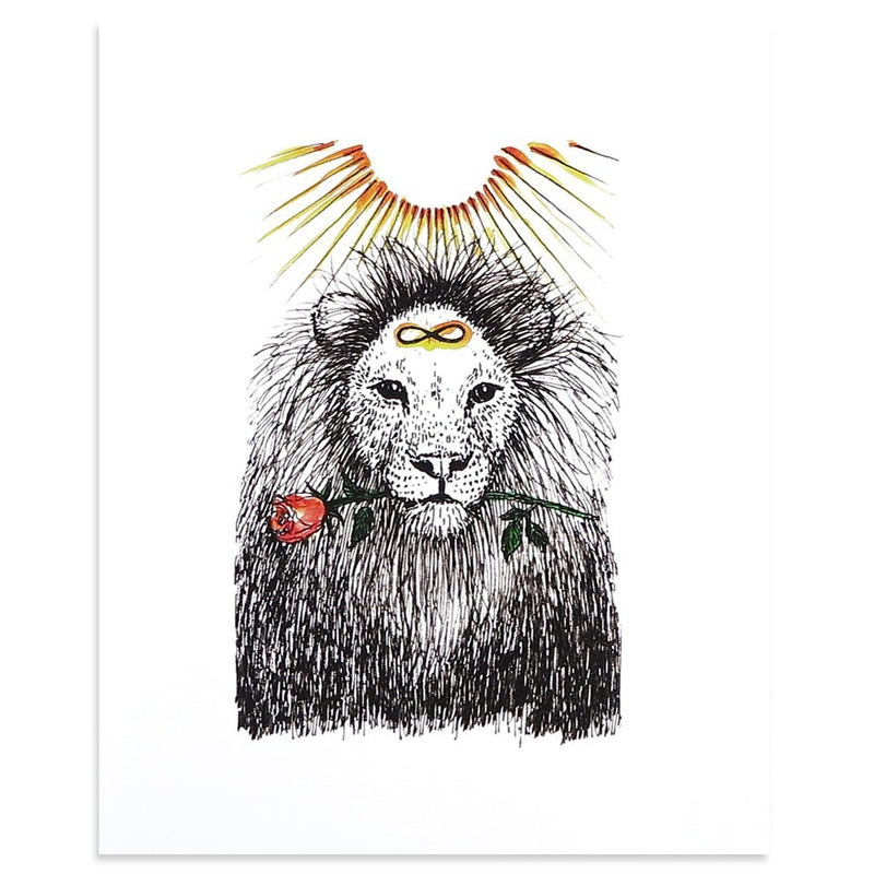 Strength by Kim Krans (The Wild Unknown)-Print-Poster Child Prints