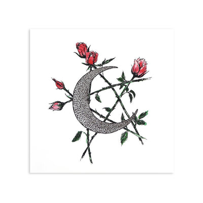 Moon and Star by Kim Krans (The Wild Unknown)-Print-Poster Child Prints