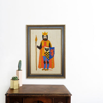 Knight with Blue Shield | Poster Child Prints | Found Art | One of a Kind