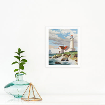 Lighthouse | Poster Child Prints | Found Art | One of a Kind